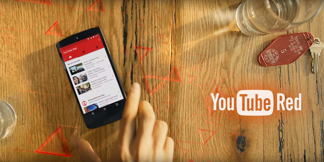 google youtube red phone number